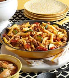 Jiffy Ground Pork Skillet - never thought about using ground pork. Yum!--tripled the veggies and added a cup of water to cook the noodles right in the pan!