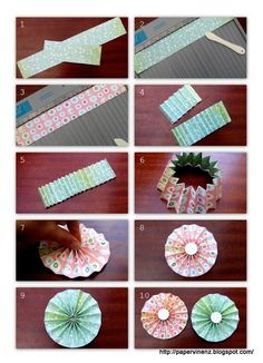 PaperVine: Ruffle Flowers - with Tutorial!