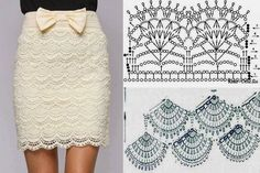 Crochet skirt with diagram