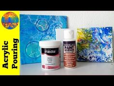 (163) How to prepare ceramic tiles for acrylic pouring - YouTube