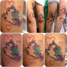 Fat unicorn tattoo Biancaneve tattooer Milano