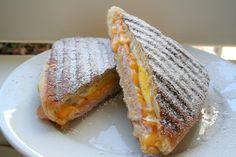 Ham, Cheese and Egg Mallorcas. Famous Puerto Rican mallorca recipe from La Bombonera.