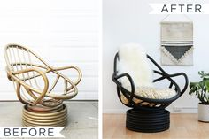 Old wicker furniture makeover 69 Ideas Rattan Chair Cushions, Rattan Furniture, Upholstered Chairs, Diy Furniture, Painting Wicker Furniture, Wicker Couch, Furniture Cleaning, Furniture Removal, Furniture Outlet