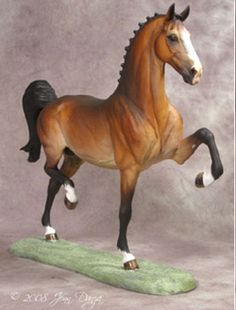 Unpainted Resin Horse - Traditional Scale Hackney Horse Stallion