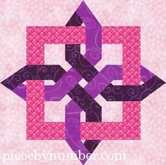 lugano clover paper pieced quilt block   Quilting: Lugano Clover paper pieced quilt block 12in