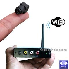 Mini Wireless Spy Camera for iPhone See more information on hidden security cameras at hiddenwirelesssec. Security Surveillance, Security Alarm, Surveillance System, Safety And Security, Home Security Tips, Wireless Home Security Systems, Security Cameras For Home, House Security, Hidden Security Cameras