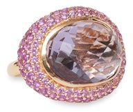 Large pink amethyst ring with sapphires  #Rings www.finditforweddings.com