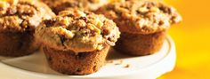 Raisin Coffeecake Muffins | With juicy raisins and a crunchy walnut filling, these muffins are the perfect partners to your morning cup of coffee.