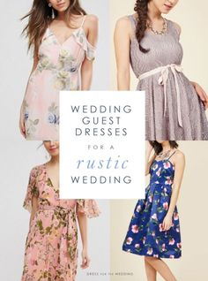 Wedding guest dresses for country or rustic weddings