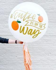 Cutie Orange Balloon. Baby Balloon.