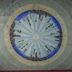 Gerardo Dottori Paesi che circondano il Trasimeno tondo con cornice in finto marmo pittura murale a secco primi anni '40 androne del Palazzone Passignano sul Trasimeno #arteinumbria  #gerardodottori #trasimeno #circlemania #instaitalia #umbria #umbriagram #art #arte #murale #italia #italy #ita_details #n2l #umbrians #trasimenolake #passignano #trasimeno #futurismo #futurism #lagotrasimeno #paesi #vivoumbria #igersumbria #artsy #artoftheday #passignanosultrasimeno by ernestoefranco