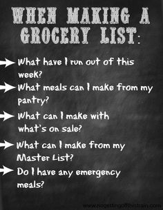 Follow these 5 simple steps to creating your grocery list! Click to find out more about meal planning. www.nogettingoffthistrain.com