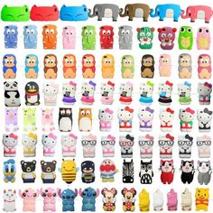 3D Cute Cartoon Animals Silicon Soft Cover Case for Apple iPhone 4 4G 4S Films | eBay