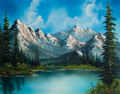 Choose your favorite bob ross paintings from millions of available designs. All bob ross paintings ship within 48 hours and include a money-back guarantee. Bob Ross Paintings, Scenery Paintings, Mountain Paintings, Nature Paintings, Paintings For Sale, Landscape Paintings, Acrylic Paintings, Painting Of Mountains, Popular Paintings