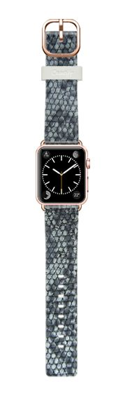 Casetify Apple Watch Band (38mm) Casetify Band - Faux python snake skin blue grey  - Printed (no relief) by WAMDESIGN #Casetify