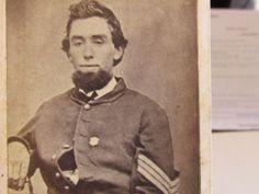 Newark Ohio Civil War sergeant wearing badge cdv photograph Newark Ohio, Badge, Photograph, History, How To Wear, Ebay, Photography, Historia, Badges