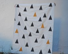 Minimalist Organic Baby Blanket XL Double Layer by SewnNatural