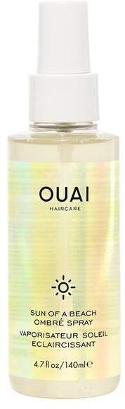 Lighten and lift all types of hair with summery highlights by using the Ouai Sun Of A Beach Ombré Spray, which features a blend of nourishing fruity ingredients. Lighten Hair Naturally, How To Lighten Hair, Natural Looking Highlights, Beach Spray, Summer Highlights, Natural Blondes, Loose Waves, Key Ingredient, Hairspray