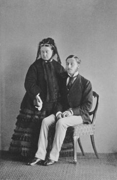 Queen Victoria and her favorite son, Prince Arthur, Duke of Connaught on his birthday. She once said she liked Arthur more than her other 8 children combined!