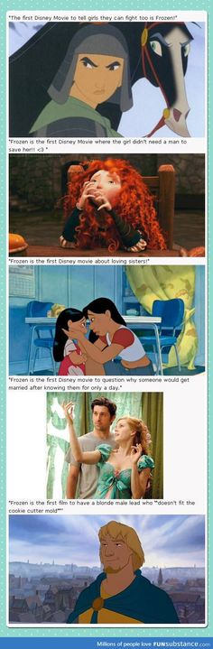 Frozen is good! But all these other movies already did everything first << Thank you!
