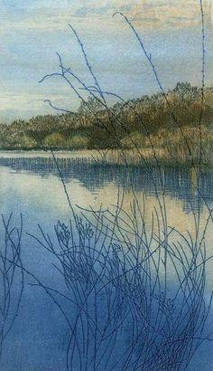 Buy an etching print Winter Light from a ltd ed. , artist proof 5 by British printmaker Helen Hanson. For Arts Sake - art prints online.