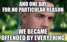 This is my third attempt with this meme. Surely after Starbucks Cup debacle this will hit home this time. Every week something. Had Forrest Gump been made in 2030 this would be a You nailed it! Forrest Gump, Forest Gump Meme, No Kidding, Funny Quotes, Funny Memes, Life Quotes, Political Memes, Thing 1, The Victim