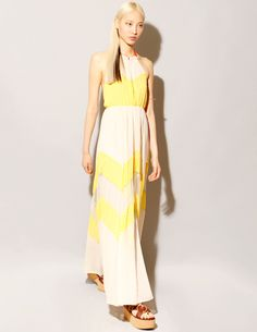 Chiffon halter maxi dress [Chs1044] - $124 : Pixie Market, Fashion-Super-Market