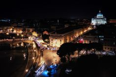 """""""Over the Castle"""" - Panorama on Castel Sant'Angelo view"""
