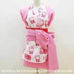 ハローキティのハネトゆかた(日本製/女性用)  日本の火祭り「青森ねぶた祭り」にハローキティ♪ 横笛・手振り鐘・ハネト・太鼓 のねぶたスタイルのキティちゃんがとってもキュートなデザインです。 お祭り気分を盛り上げてくれるイチゴ色のプリントも印象的ですね☆ ねぶた祭りを思いっきり楽しみたい女子に大満足な1枚です!【身長の目安:140cm~165cm】