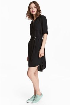 Shirt dress - Black - Ladies | H&M