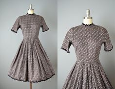 Hey, I found this really awesome Etsy listing at https://www.etsy.com/listing/180775071/sale-vintage-50s-dress-1950s-grey-floral