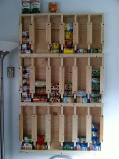 Garage Storage Solutions Diy Projects And Garage Storage Systems . Garage Storage Solutions DIY Projects and Garage Storage Systems menards storage and organization - Storage And Organization Diy Storage Rack, Can Storage, Pantry Storage, Storage Ideas, Small Storage, Rangement Art, Diy Projects On A Budget, Canned Food Storage, Garage Storage Solutions