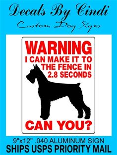 GIANT SCHNAUZER DOG SIGN 2827BF I'm so getting this