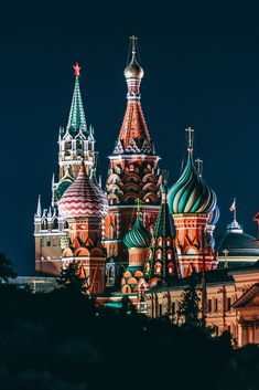 21 Breathtaking Images Of Europe To Inspire Your Wanderlust Saint Basil's Cathedral By Night (Moscow, Russia)