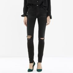 Women's distressed black jeans – Global fashion jeans collection