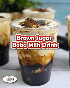 Brown Sugar Boba Milk Tea Drink recipe is a sweet and refreshing blend of cold fresh milk, brown sugar sy Brown Sugar Boba Milk Tea Drink recipe is a sweet and refreshing blend of cold fresh milk, brown sugar syrup, and tapioca pearls. Brown Sugar Syrup, Make Brown Sugar, Brown Sugar Cookies, Veggie Wraps, Milk Tea Recipes, Coffee Recipes, Boba Tea Recipe, Boba Drink, Bubble Milk Tea