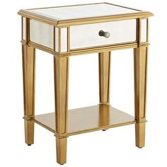Hayworth Nightstand - Gold - Home Decor Ideas