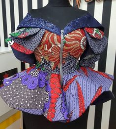 African Dresses For Kids, Latest African Fashion Dresses, African Dresses For Women, African Print Dresses, African Print Fashion, African Attire, African Fashion Traditional, African Blouses, Blouse Styles