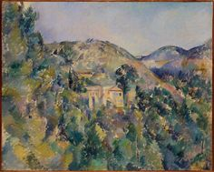 Artwork Painting - View Of The Domaine Saint Joseph Late by Paul Cezanne Renoir, Monet, Painting Prints, Canvas Prints, Art Prints, Watercolour Painting, Paul Cezanne Paintings, Paul Gauguin, St Joseph