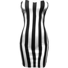 Strapless Vertical Stripe Mini Dress ($20) ❤ liked on Polyvore featuring dresses, vestidos, short dresses, black, 2b bebe, mini dress, strapless mini dress, sweetheart neckline strapless dress and sweetheart dress