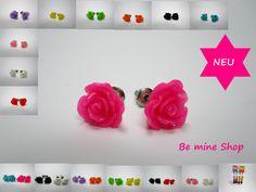 süße filigrane Ø 10 mm Rosen-#Ohrstecker in tollen Farben Auch als Spar-Sets erhältlich... VK 2,49€ ( 1 Paar ) VK 3,95€ (2 Paar) http://ebay.eu/1sWqqUn