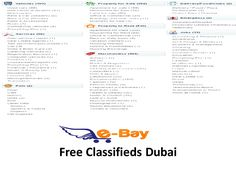 Choose from a wide selection of certified cars. Find your dream car , apartments, jobs in Dubai at http://www.e-bay.ae/