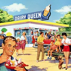 Delicious Dairy Queen makes every day a Happy Holiday!  1960 Dairy Queen ad detail and I could go for a Hawaiian Blizzard right about now…