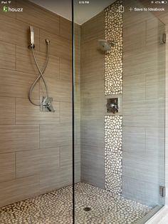I love the shower floor that looks like rocks