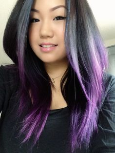 purple ombre hair could i pull this off? lol @Marianne Glass Glass Burchard Design Gutierrez