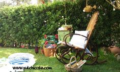 Rincón de lectura2,rutchicote Outdoor Furniture, Outdoor Decor, Rocking Chair, Outdoor Spaces, Exterior, Flowers, Garden Ideas, Home Decor, Corner Reading Nooks