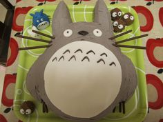 Totoro cake that shelley cooper? made for her daughters 3rd birthday, it had rainbow sponge inside!
