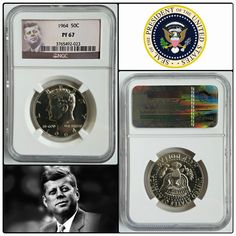 Proof 1964 Kennedy Half Dollar graded PF67 by @ngccoins  #jfk #kennedy #halfdollar #50c #president #deadpresidents #usa #uspresident #coin #proof #collector #collection #silver #silverstack #1960s #ngc #graded #certified #cool #wow #jfk2017 #coins #coincollecting