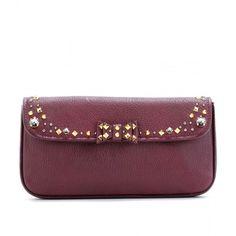 Miu Miu Embellished Leather Clutch ($895) ❤ liked on Polyvore