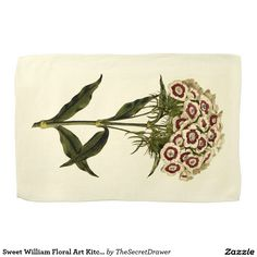 Sweet William Floral Art Kitchen Towel